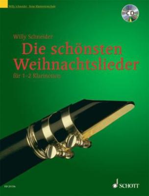 Die schönsten Weihnachtslieder,  für 1-2 Klarinetten, m. Audio-CD