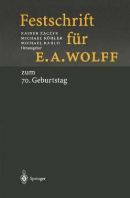 Festschrift für E.A. Wolff