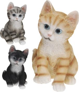 Deko Kätzchen gestreift
