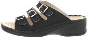 Schlappen aus Krokolackleder schwarz Größe 43