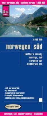 World Mapping Project Reise Know-How Landkarte Norwegen Süd (1:500.000). Southern Norway / Norvège sud / Noruega sur