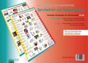 Sprichwörter und Redewendungen, 2 Plakate m. 2 Übungsheften