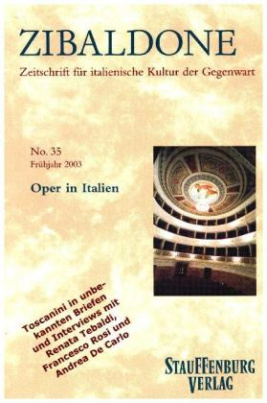 Zibaldone, Zeitschrift für italienische Kultur der Gegenwart. No.35