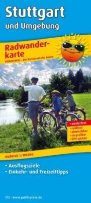 PublicPress Radwanderkarte Stuttgart und Umgebung