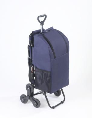 Einkaufstrolley mit Sitz blau