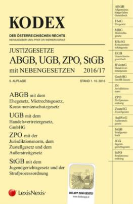 KODEX Justizgesetze 2016/17 (f. Österreich)