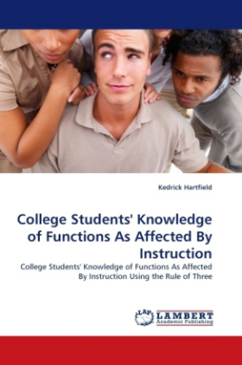 College Students' Knowledge of Functions As Affected By Instruction