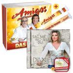 Amigos - Das Beste + EXKLUSIV Fanschal + Daniela Alfinito - Sag mir wo bist du + EXKLUSIVER Schlüsselanhänger