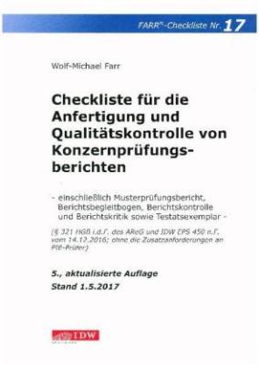 Checkliste für die Anfertigung und Qualitätskontrolle von Konzernprüfungsberichten