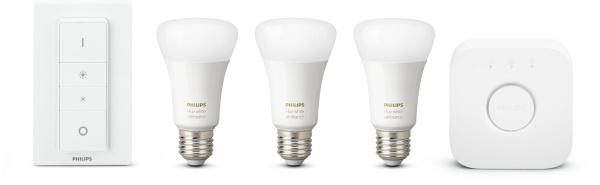 "PHILIPS HUE 3er-Set ""White & Color Ambiance E27"" (inkl. Bridge und Dimmschalter)"