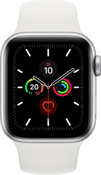 """APPLE Smart Watch """"Watch Series 5"""" (GPS + Cellular, 40 mm, Aluminiumgehäuse, silber/weiß)"""
