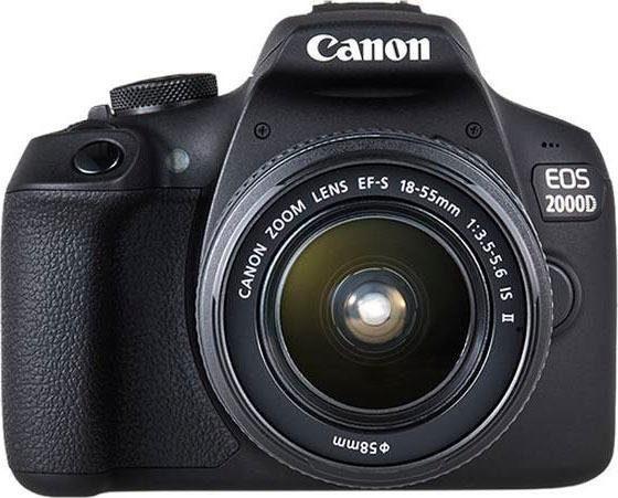 """CANON Kamera """"EOS 2000D EF-S 18-55 IS II Kit"""" (24,1 Megapixel, EF-S 18-55 IS II, WiFi)"""