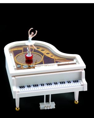 Spieldose Schmuckkästchen Klavier mit Ballerina