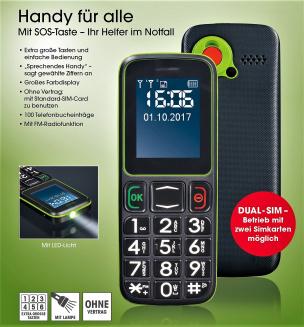 Handy für alle  Schwarz/Grün