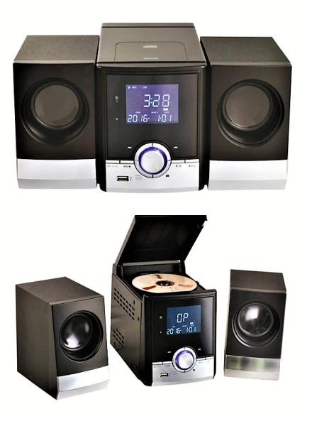 stereoanlage mit cd player und bluetooth schwarz. Black Bedroom Furniture Sets. Home Design Ideas
