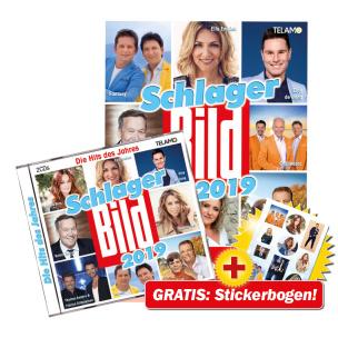 Schlager BILD 2019 CD+DVD-Paket + GRATIS Stickerbogen