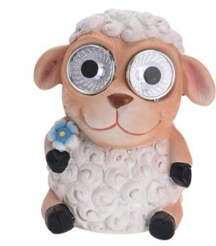 Solarleuchte lustiges Schaf