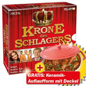 """Krone des Schlagers + GRATIS Auflaufform mit Deckel """"Cocotte"""", rot"""