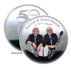 Medaille - 50 Jahre Amigos inklusive GRATIS Etui