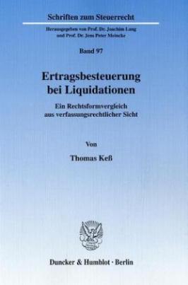 Ertragsbesteuerung bei Liquidationen