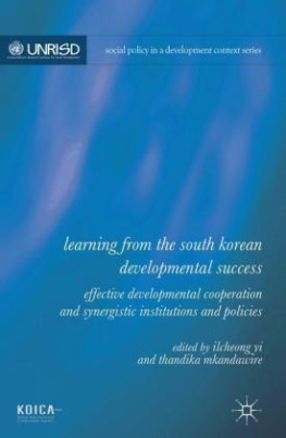 Learning from the South Korean Developmental Success