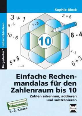Einfache Rechenmandalas für den Zahlenraum bis 10