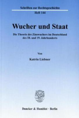 Wucher und Staat
