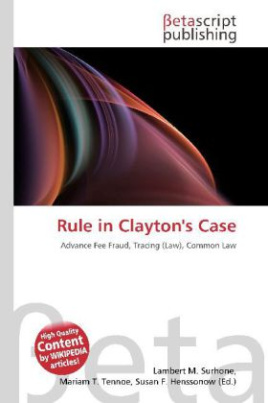 Rule in Clayton's Case