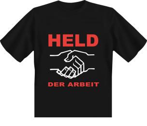 T-Shirt Held der Arbeit - schwarz - L