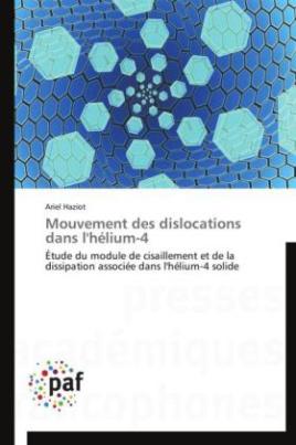Mouvement des dislocations dans l'hélium-4