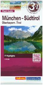 Hallwag Flash Guide München - Südtirol, Oberbayern, Tirol