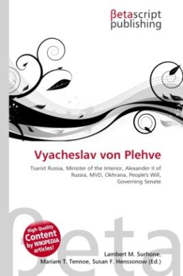 Vyacheslav von Plehve