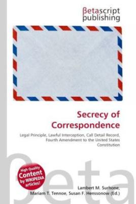 Secrecy of Correspondence