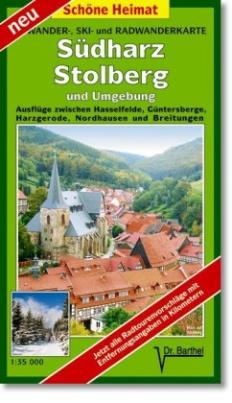 Doktor Barthel Karte Südharz, Stolberg und Umgebung