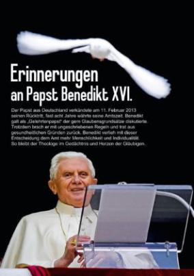 Erinnerungen an Papst Benedikt XVI. (Tischaufsteller DIN A5 hoch)