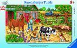 Kinder Puzzle - Glückliches Bauernhofleben