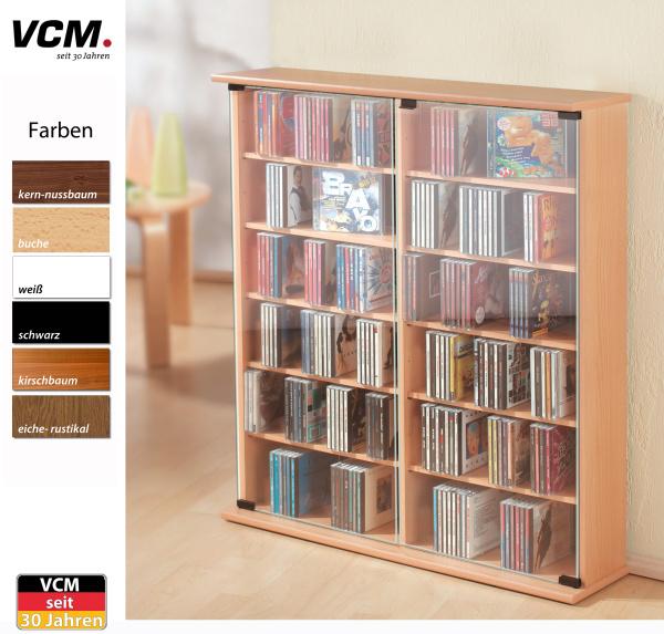 CD Schrank Roma sonoma eiche (sägerau) für 300 CDs